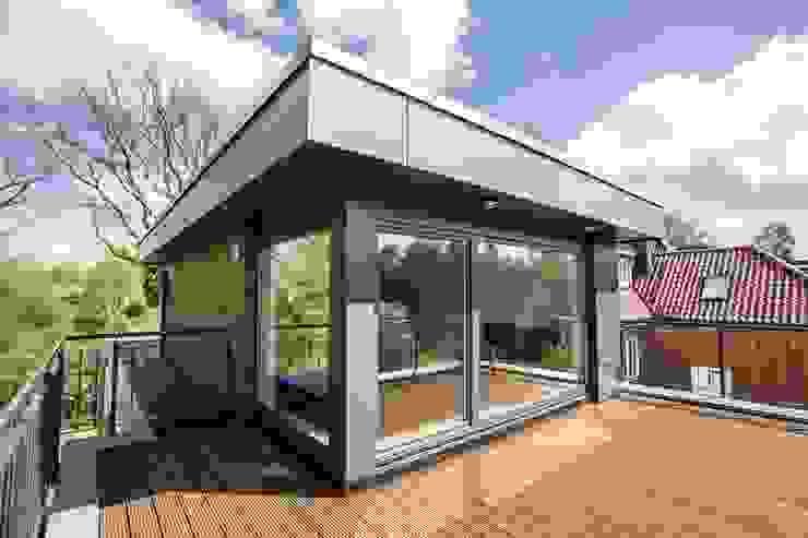 Terrasse de style  par Architekturbüro Prell und Partner mbB Architekten und Stadtplaner, Moderne