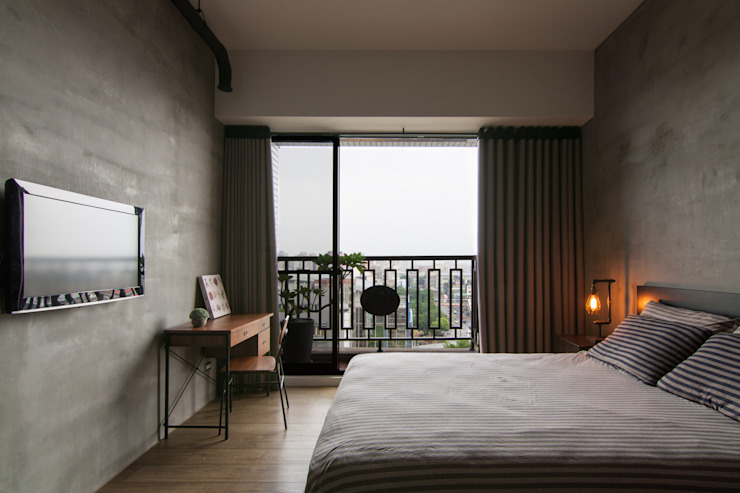 Bedroom by 珞石設計 LoqStudio,