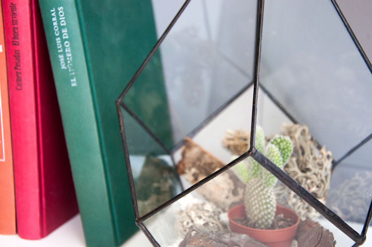 Terrario Drop grande:  de estilo industrial de ZetaGlass, Industrial Vidrio