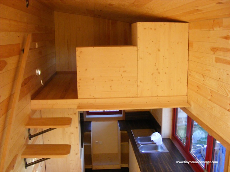 TINY HOUSE CONCEPT MICRO MAISON REF PASS 750 TINY HOUSE CONCEPT - BERARD FREDERIC Chambre minimaliste