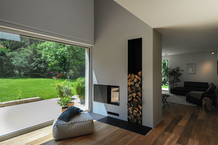 Living room by GRIMM ARCHITEKTEN BDA
