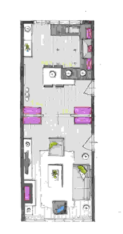 Interieur Repelaarstraat Den Haag Woonkamer en keuken van LINDESIGN Amsterdam Ontwerp Design Interieur Industrieel Meubels Kunst