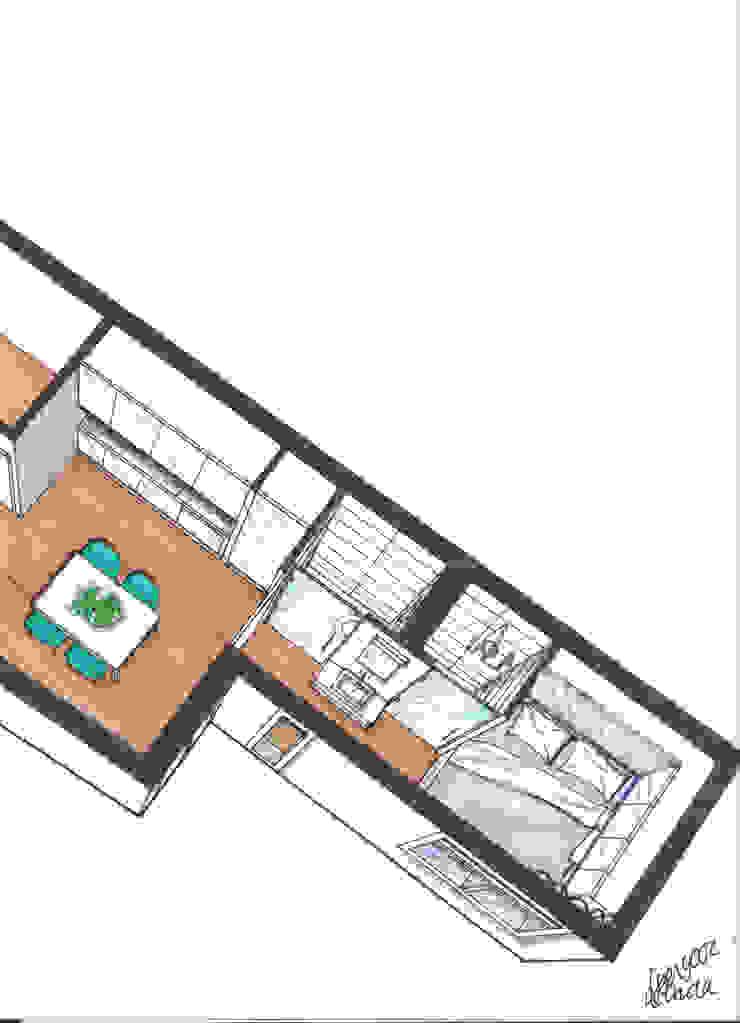 Verbouwing geheel pand Singel te Amsterdam Badkaamer Keuken: modern  door LINDESIGN Amsterdam Ontwerp Design Interieur Industrieel Meubels Kunst, Modern