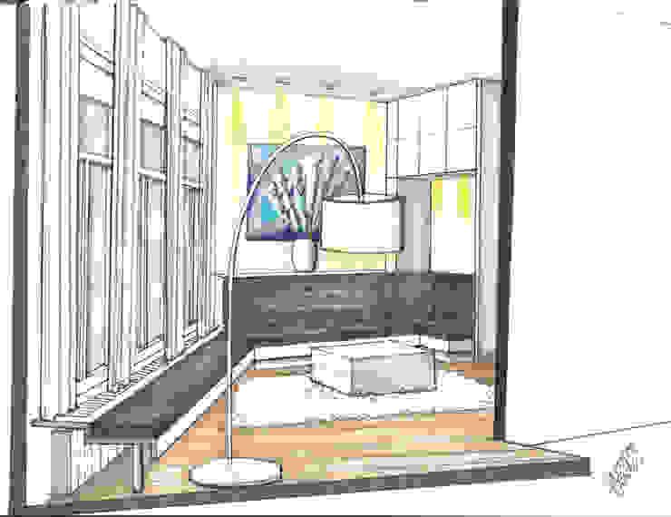 Verbouwing geheel pand Singel te Amsterdam Woonkamer: modern  door LINDESIGN Amsterdam Ontwerp Design Interieur Industrieel Meubels Kunst, Modern