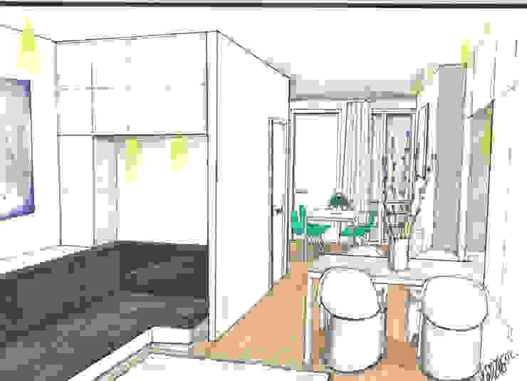 Verbouwing geheel pand Singel te Amsterdam Keuken: modern  door LINDESIGN Amsterdam Ontwerp Design Interieur Industrieel Meubels Kunst, Modern