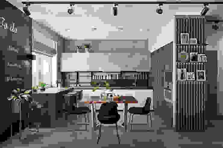 Дизайн-проект квартиры в ЖК Union Park Кухня в стиле лофт от Дизайн Мира Лофт