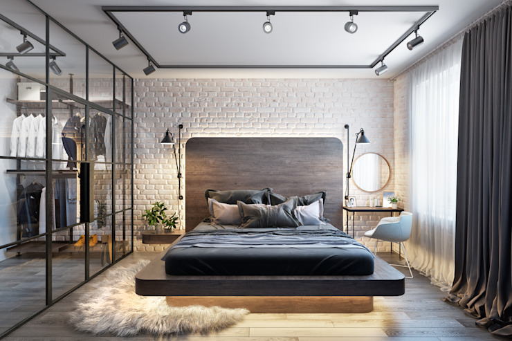 Industrial style bedroom by Дизайн Мира Industrial