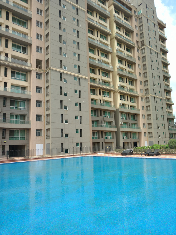 Renovation of Olympic size pool in Koparkhairane, Navi Mumbai Asian style hotels by RENOLIT SE / WATERPROOFING DIVISION Asian