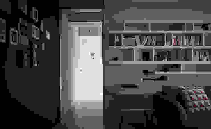 竹北 俬見方 隨意取材風玄關、階梯與走廊 根據 思維空間設計 隨意取材風