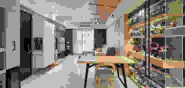 權美 现代客厅設計點子、靈感 & 圖片 根據 思維空間設計 現代風