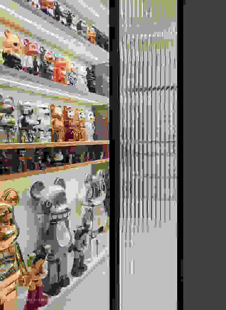 權美 現代風玄關、走廊與階梯 根據 思維空間設計 現代風
