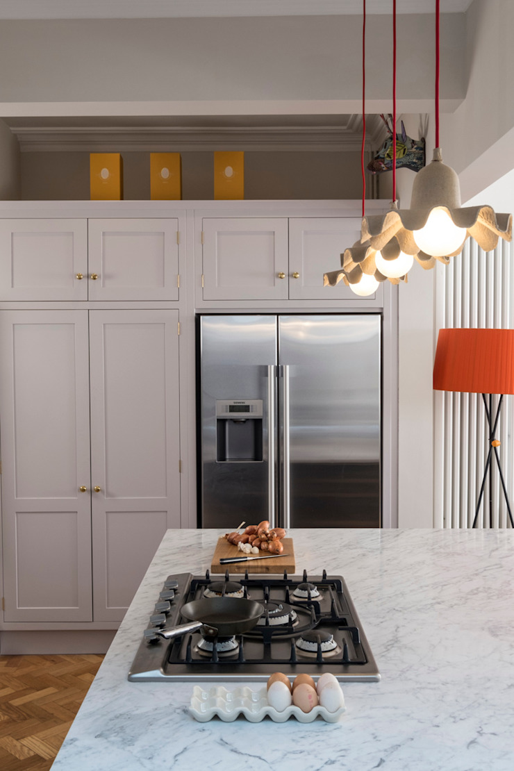 designer cool Chalkhouse Interiors Classic style kitchen Wood Grey