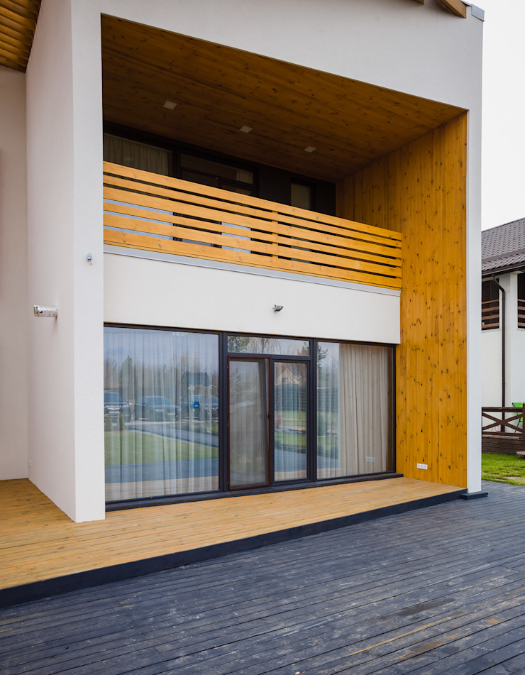 Minimalist house by Мастерская Grynevich Dmitriy Minimalist Engineered Wood Transparent