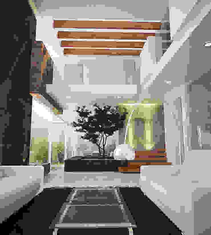 VISTA INTERIOR Salones minimalistas de 9.15 arquitectos Minimalista