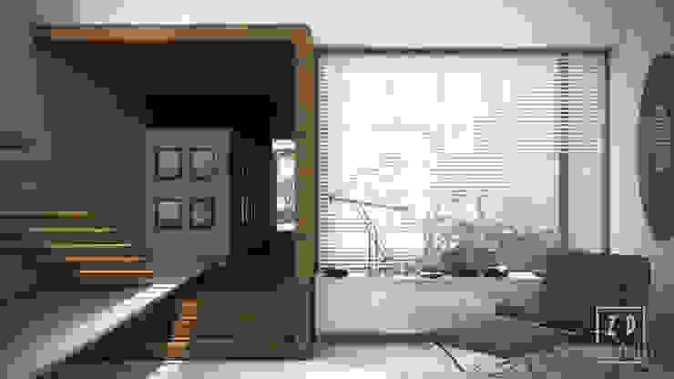 DISEÑO EN 3D DE INTERIORES de ZP ARQUITECTOS Moderno