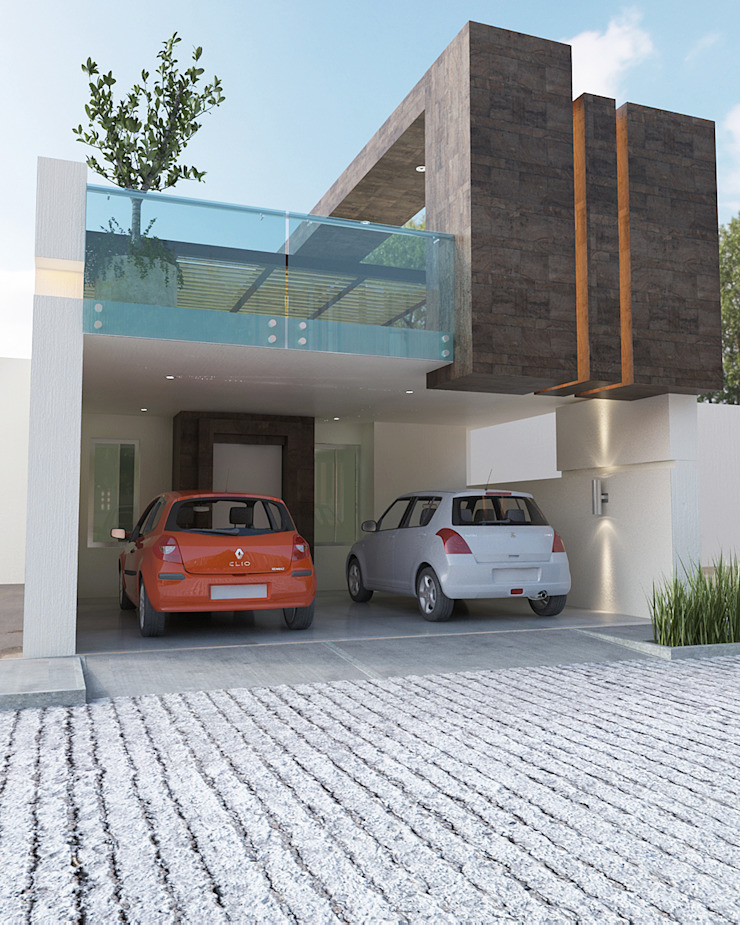 FACHADA PRICIPAL Casas minimalistas de 9.15 arquitectos Minimalista