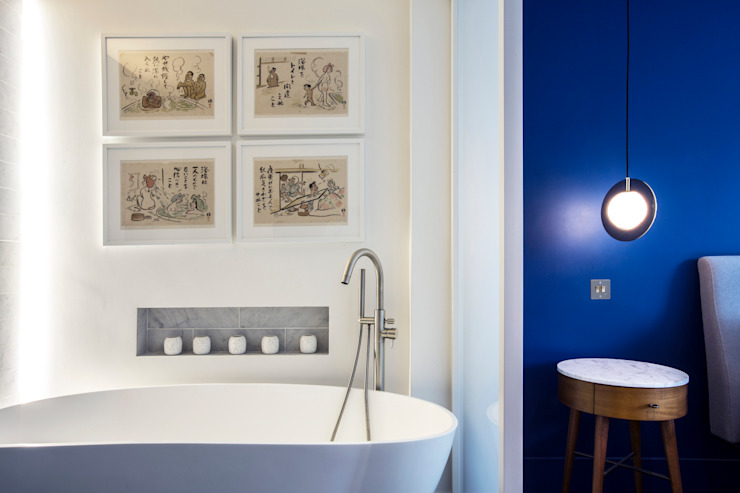 ensuite bathroom Modern bathroom by Gundry & Ducker Architecture Modern Tiles
