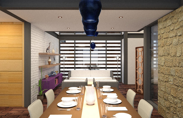 Eclectic style dining room by Arq. Rodrigo Culebro Sánchez Eclectic