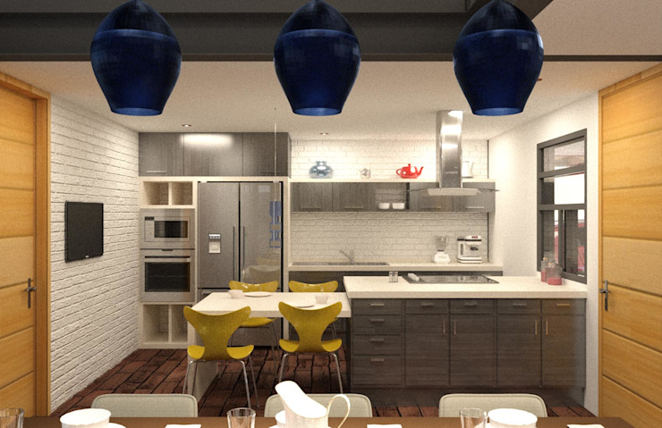 Eclectic style kitchen by Arq. Rodrigo Culebro Sánchez Eclectic