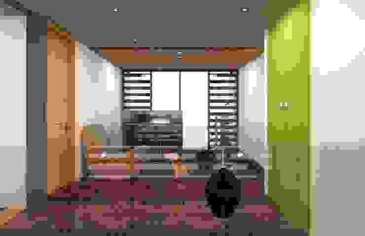 Eclectic style corridor, hallway & stairs by Arq. Rodrigo Culebro Sánchez Eclectic