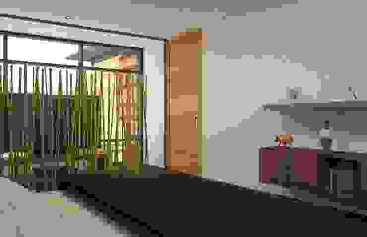 Camera da letto eclettica di Arq. Rodrigo Culebro Sánchez Eclettico