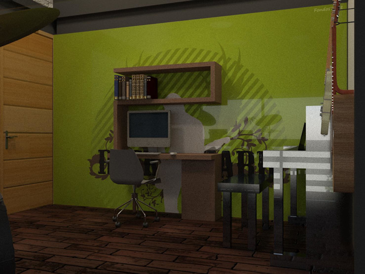 Eclectic style bedroom by Arq. Rodrigo Culebro Sánchez Eclectic