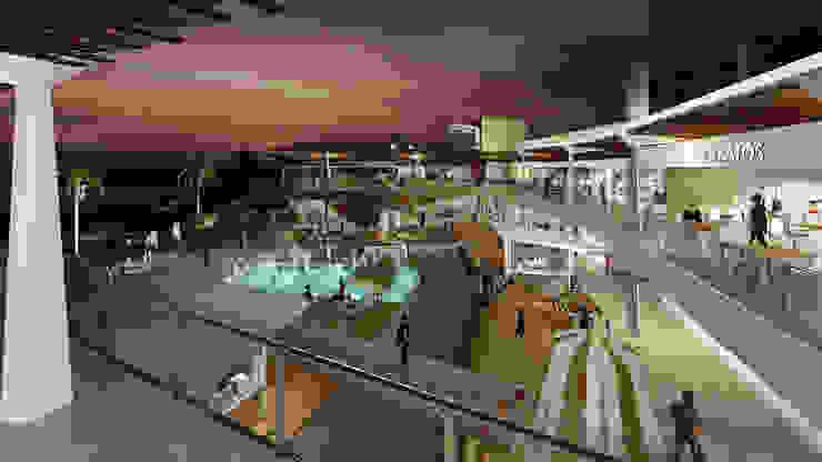 Vista desde segunda planta comercial de Segovia ARQ Moderno