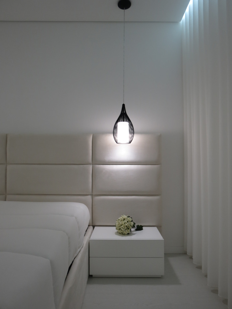Habitação unifamiliar Quartos minimalistas por Ivo Sampaio Arquitectura Minimalista MDF