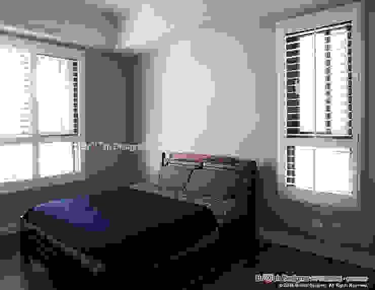 臥室 根據 大不列顛空間感室內裝修設計 鄉村風