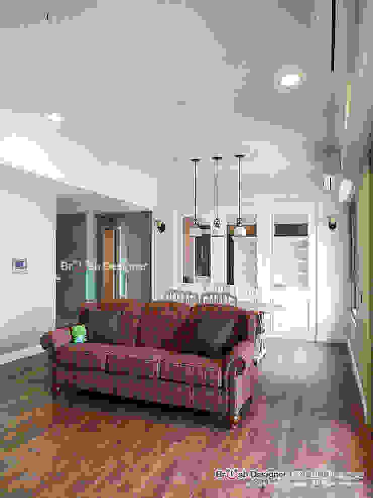 客廳 根據 大不列顛空間感室內裝修設計 鄉村風