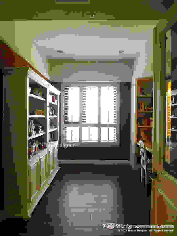 書房 根據 大不列顛空間感室內裝修設計 鄉村風