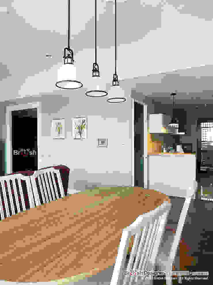 餐廳 根據 大不列顛空間感室內裝修設計 鄉村風