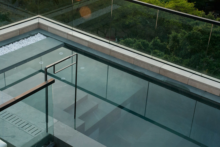 Roof Top Swimming Pool by Sensearchitects Limited Modern Stone