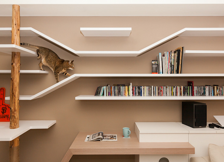 Ruang Keluarga Gaya Skandinavia Oleh 思維空間設計 Skandinavia