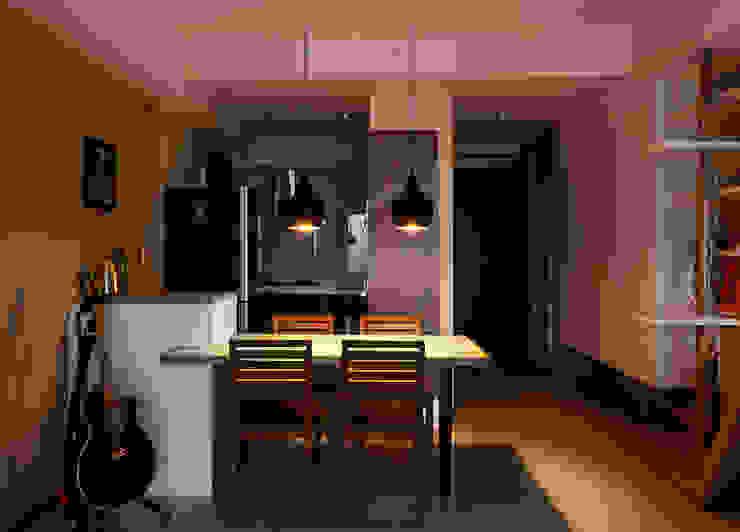 Ruang Makan Gaya Skandinavia Oleh 思維空間設計 Skandinavia
