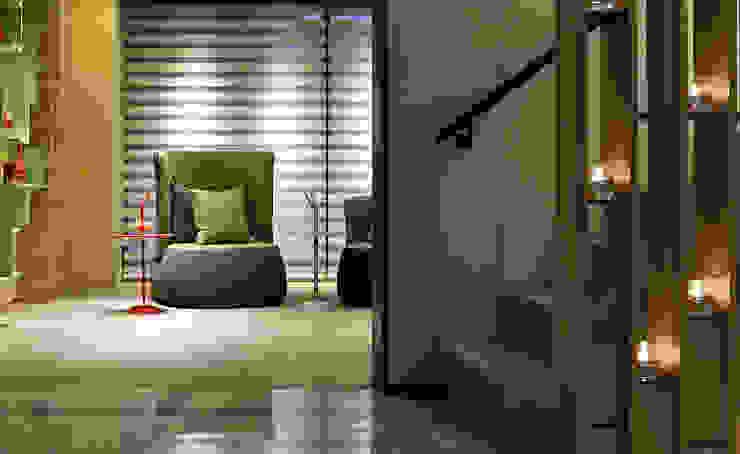 【美好生活,就是這樣 | A better life, that is it.】 現代風玄關、走廊與階梯 根據 天坊室內計劃有限公司 TIEN FUN INTERIOR PLANNING CO., LTD. 現代風