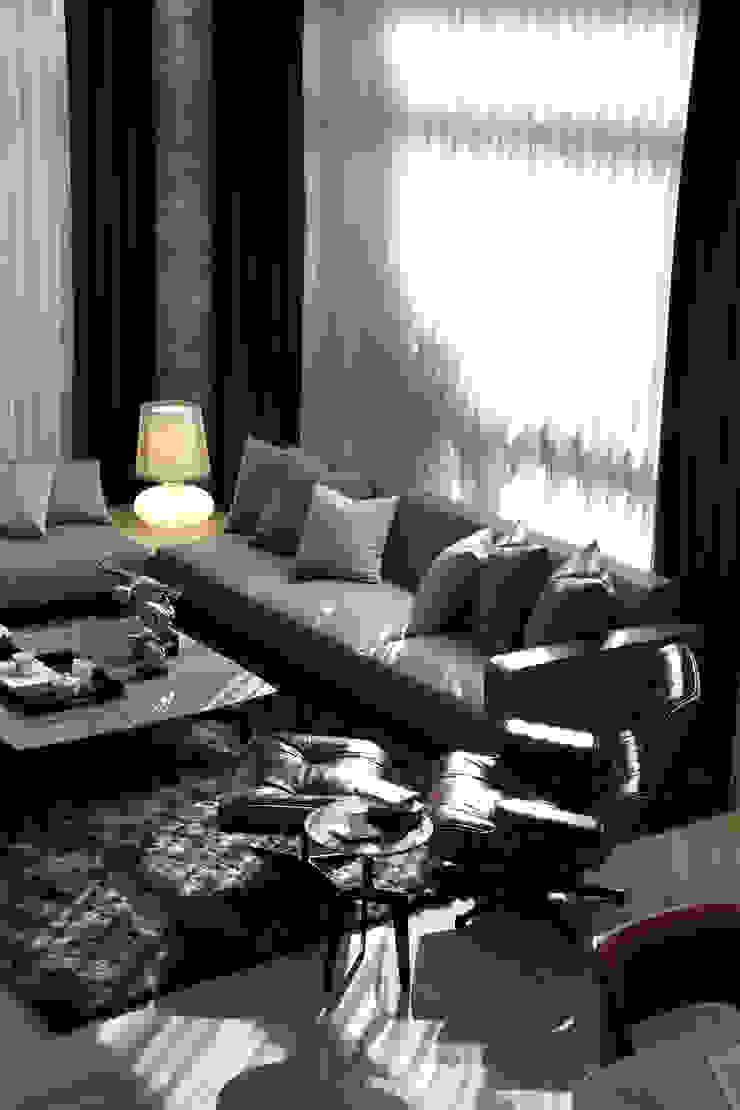 【美好生活,就是這樣 | A better life, that is it.】 现代客厅設計點子、靈感 & 圖片 根據 天坊室內計劃有限公司 TIEN FUN INTERIOR PLANNING CO., LTD. 現代風
