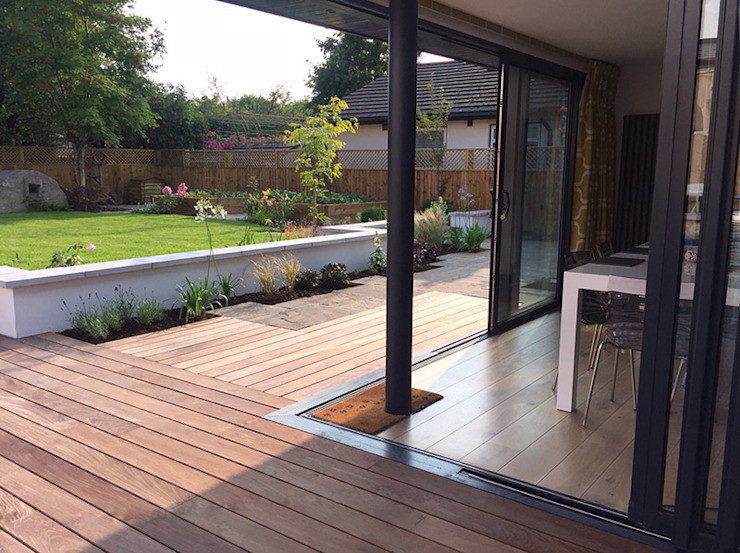 Garden Room, Private House, Redland, Bristol Modern Balkon, Veranda & Teras Richard Pedlar Architects Modern