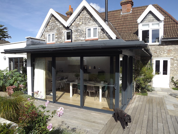 Garden Room, Private House, Redland, Bristol Modern Evler Richard Pedlar Architects Modern