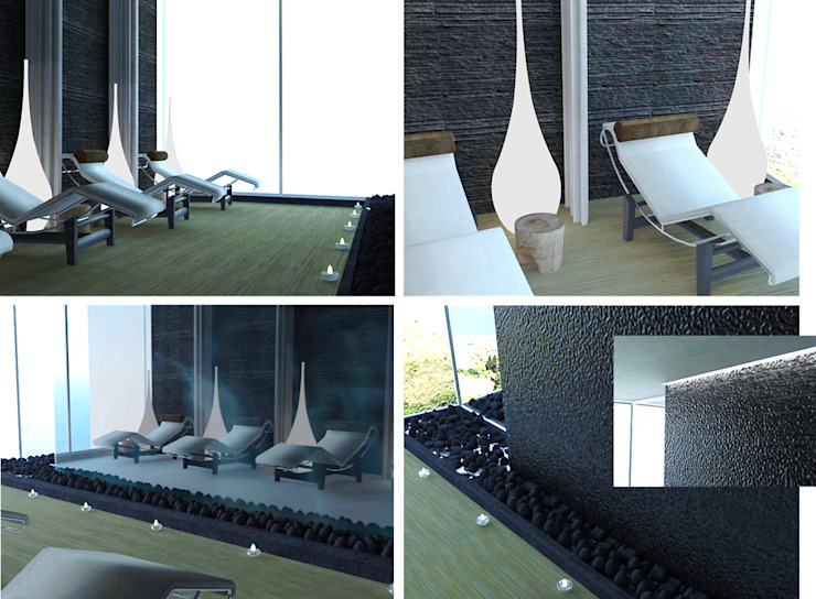 Sala de Relaxamento Clínicas modernas por MUDE Home & Lifestyle Moderno