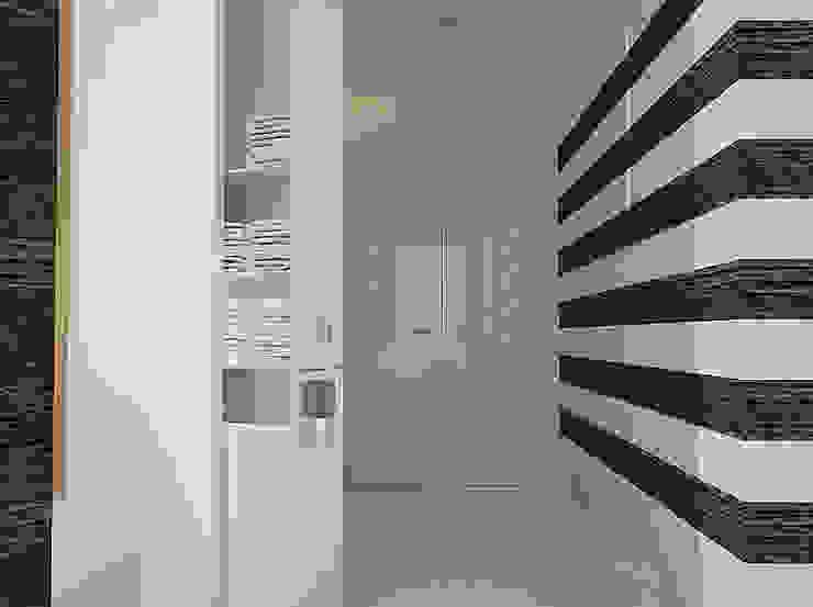 Recepção principal, zona de acessos e entrega/recolha de toalhas para o ginásio. Clínicas modernas por MUDE Home & Lifestyle Moderno