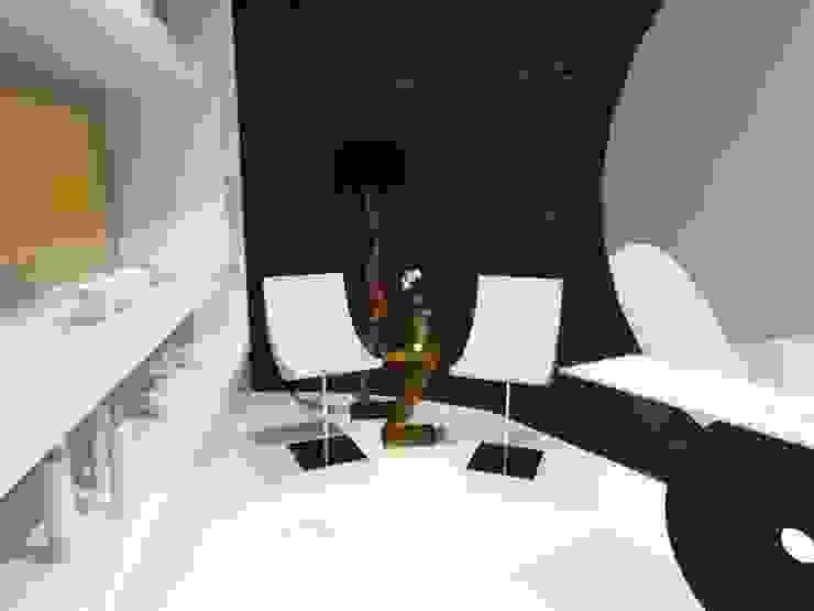 Zona de exposição e comercialização de produtos de estética. Clínicas modernas por MUDE Home & Lifestyle Moderno