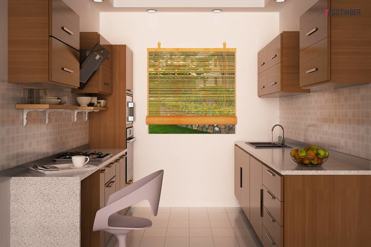 Modular Kitchen 2 by Yagotimber.com Modern Engineered Wood Transparent