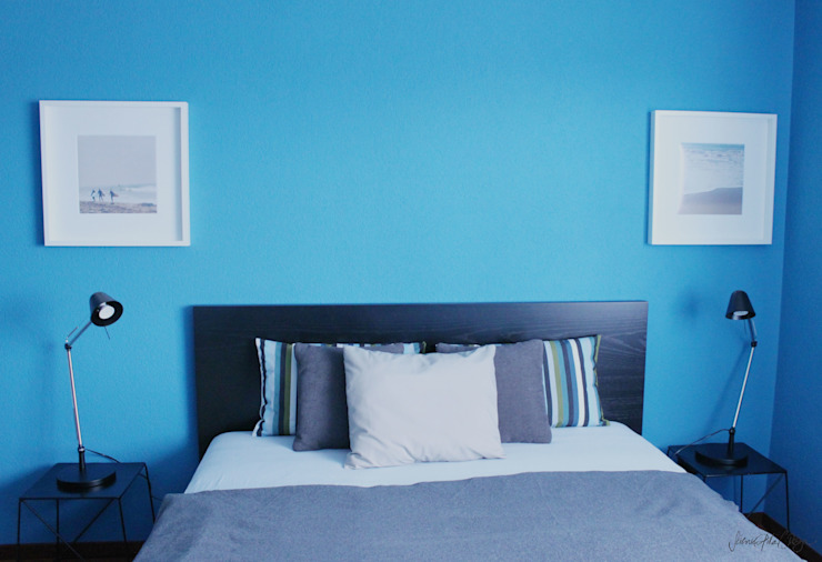CERULEAN BLUE BEDROOM by Severine Piller Design LLC