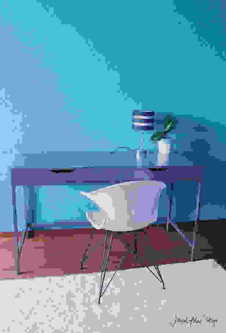 CERULEAN BLUE BEDROOM by Severine Piller Design LLC