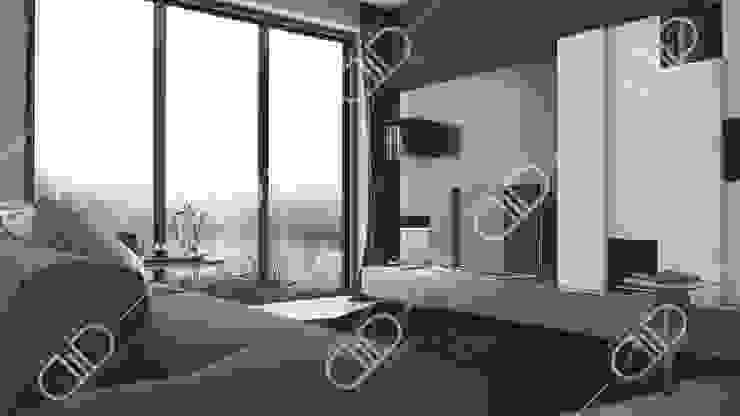 Interior Design and Rendering by Design Studio AiD Minimalist Concrete