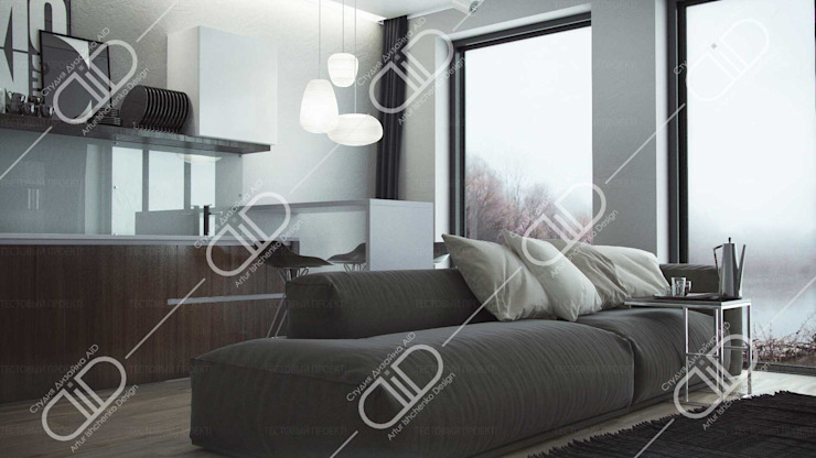 Interior Design and Rendering Modern living room by Design Studio AiD Modern Glass