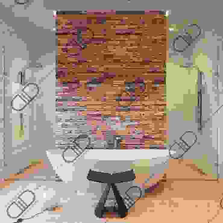 Interior Design and Rendering Modern bathroom by Design Studio AiD Modern Engineered Wood Transparent