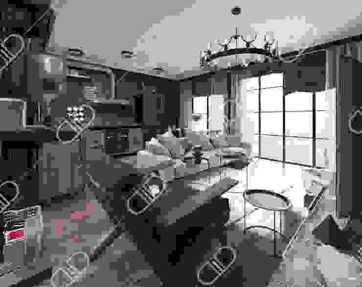 Interior Design and Rendering by Design Studio AiD Industrial Copper/Bronze/Brass