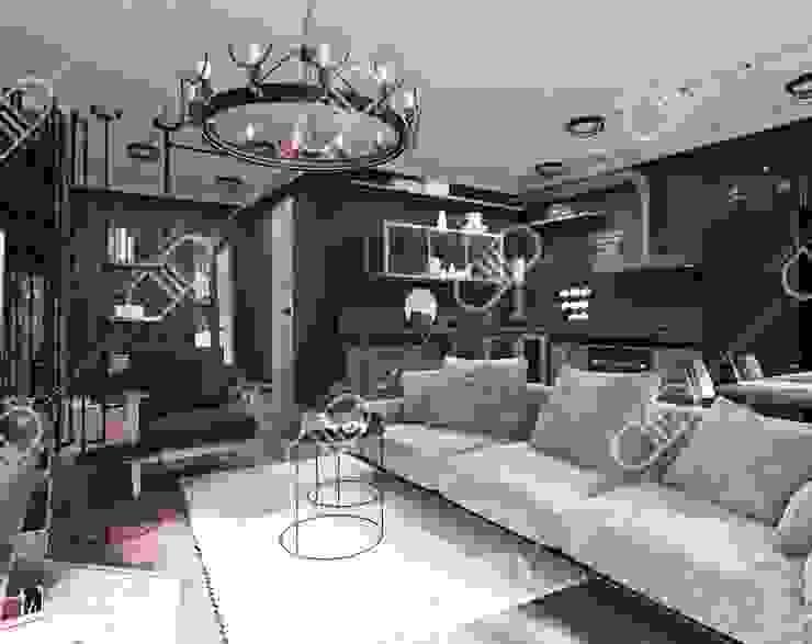Interior Design and Rendering by Design Studio AiD Rustic Metal